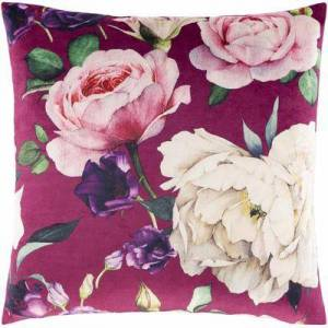 """Hauteloom """"Gaven 22"""""""" x 22"""""""" Square Pillow Cover Traditional 100% Polyester/100% Polyester Burgundy/Garnet/Grass Green/Bright Pink/Dark Green/Bright Red/Dark Purple/Bright Purple/Lime/Ivory/Dark Brown/Taupe/Bright Yellow Pillow Co"""