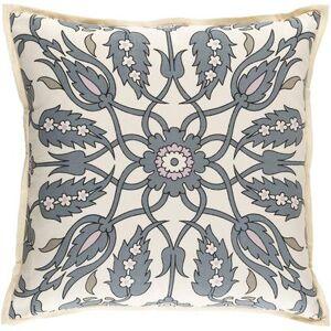 "Hauteloom ""Martelle 20"""" x 20"""" Square with Down Insert Traditional 55% Linen/45% Cotton Medium Gray/Blush/Tan/Black/Cream Pillow Kit - Hauteloom"""