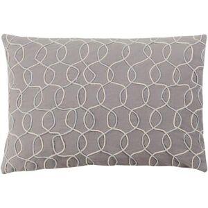 "Hauteloom ""Invermay 22"""" x 22"""" Square with Polyester Insert Modern 100% Cotton/100% Cotton Medium Gray/Cream Pillow Kit - Hauteloom"""