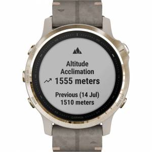 Garmin fenix 6S Multisport GPS Smartwatch (42mm, Sapphire, Light Gold-Tone / Sha