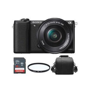 Sony A5100 Black KIT SEL 16-50MM F3.5-5.6 OSS Black+ Bag+ 16gb SD card