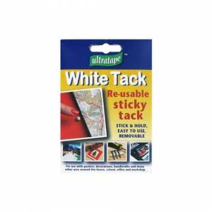 The Home Fusion Company White Sticky Re-usable Tack Stick & Fix!
