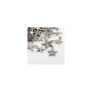 Beadz Galore Pack 30 Grams Antique Silver Tibetan Random Shapes & Sizes Charms (STAR)