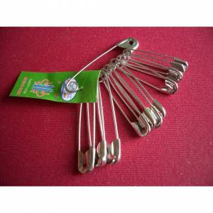 The Home Fusion Company Bunch of 12 Safety Pins 3 Sizes