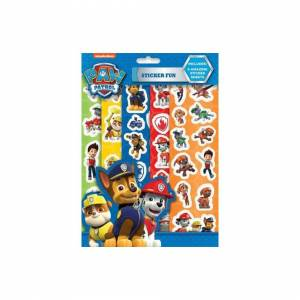 The Home Fusion Company Paw Patrol Sticker Fun 5 Sheets Reusable Stocking Party Bag Filler