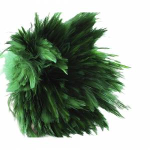 Unbranded 30pcs Emerald Green Dyed Rooster Feathers Pendant Earrings Jewelry Millinery Sad