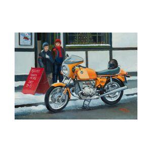 Hansen Fine Art BMW R90S 1970s German Motorbike Motorcycle Christmas Xmas Card