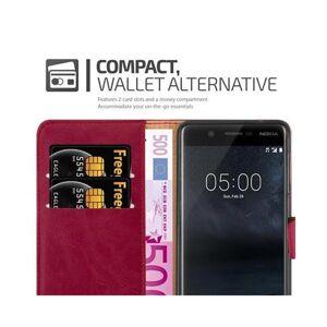 Cadorabo (WINE RED) Cadorabo Case for Nokia 5 2017 case cover