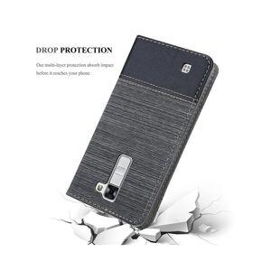 Cadorabo (GREY BLACK) Cadorabo Case for LG K7 case cover