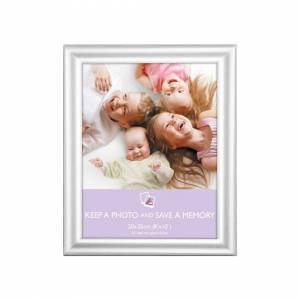 The Home Fusion Company Picture Frame - Silver Rounded 10x8