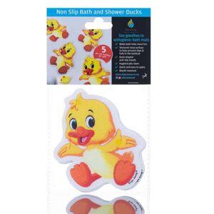 Slips Away Non Slip Kids Bath Mat Stickers Cute Duck ( 5x Pack ) - UK BEST SELLER
