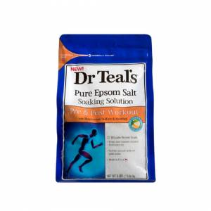 Dr Teal's Pure Epsom Salt Soaking Solution Pre & Post Workout - 1.36kg