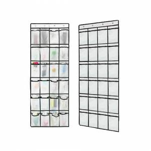 Unbranded (White) Over the Door Shoe Organiser Rack Hanging Storage Space Saver Hanger