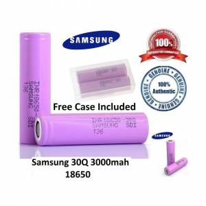 Samsung (20 Battery with Free Case) Samsung 30Q 3000mAh Vape RECHARGEABLE BATTERY