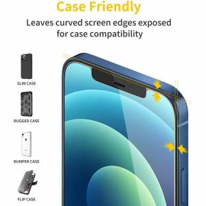 fonefunshop 2 x Tempered Glass Screen Protectors For iPhone 12/12 Pro