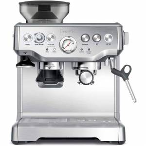 Breville BES870XL Barista Express Espresso Machine, Brushed Stainless Steel, Lar