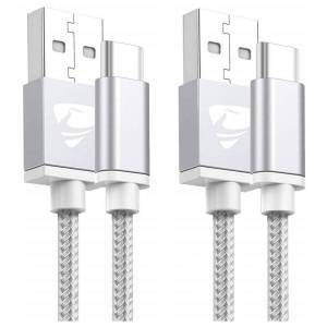Aione USB C Cable, Type C Charger [2-Pack 2M] Fast Charging Cable Lead USB C Charger C