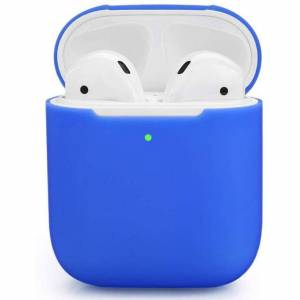 FinestBazaar (Blue, For Apple AirPods (2nd Generation)) Silicone TPU Soft Skin Case For Apple