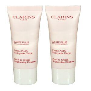 Clarins 2 x clarins white plus pearl to cream 30ml trial size