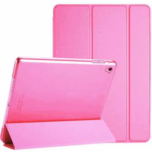 Soniqe (Pink) Pu Leather Fold Folio Shockproof Stand Smart Case Cover For Apple iPad 10