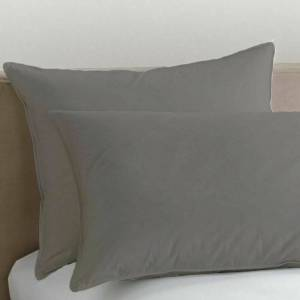 Unbranded (Grey, Pillow Cases) Plain Polycotton Base Valance Bed Sheets ALL Sizes