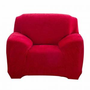 JS One (8. Red, 1 Seater(90-140cm)) Stretchable 1/2/3/4 Seater Sofa Cover Slipcover Set