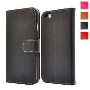 FinestBazaar Apple iPhone Genuine Leather Case, Premium Leather Wallet Case with [Kickstand]