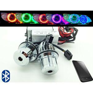 Unbranded BMW E39 E60 E87 20W Bluetooth Multicolour Change Cree LED For BMW Angel Eye Halo