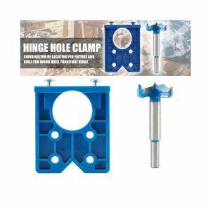 Unbranded ABS Concealed Hinge Hole Jig+Drill Bits Tool Fits Kitchen Cabinet Doors 35mm UK