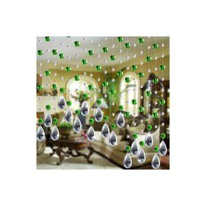 Slowmoose (Green) Crystal Glass Bead Curtain - Luxury Living Room, Bedroom, Window, Door,