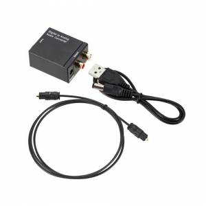 Unbranded Digital Analogue Audio Converter Optical Coaxial Toslink RCA L/R Sound Adapters