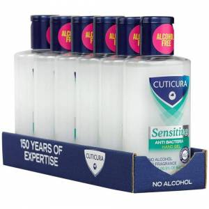 Cuticura Sensitive Anti Bacterial Hand Gel 100ml (Pack of 6)