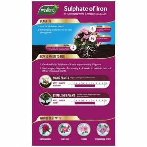 Unbranded Westland Sulphate of Iron Plant Food for Ericaceous Plants, 1.5 kg