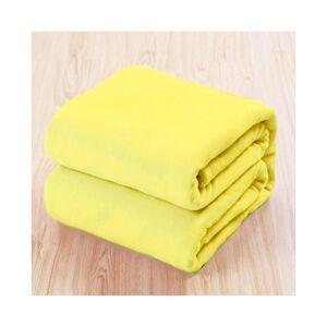 Unbranded (Yellow, 70*100cm) Warm Soft Large Polar Fleece Throw Blanket Sofa Bed Room Trav