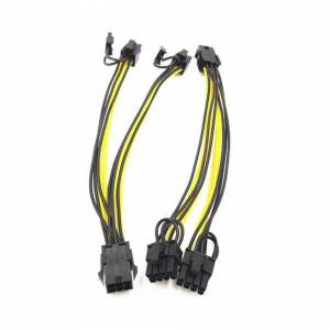 Unbranded PCI-E 8-pin to 2x 6+2-pin (6pin/8pin) Power Splitter Cable PCIE PCI Express Hot