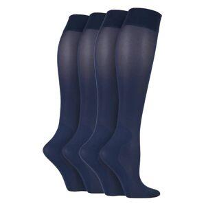 IOMI (4-7 UK, Navy) 2 Pairs Ladies 40 Denier Compression Knee High Energising Socks