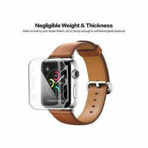 FinestBazaar (38mm) TPU Gel Case For Apple Watch Responsive Touch Full Screen Curved Edge Pro