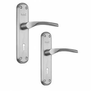 Spira Brass Certifire Internal Shaped Stainless Steel Door Lever Handle Lock Pack & Hinges