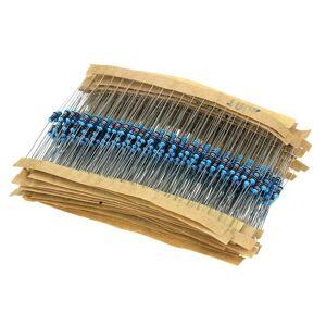 Compatible 600Pcs 30 Values 1/4W 1% 10-1M ohm Resistor Kit for DIY Experiment