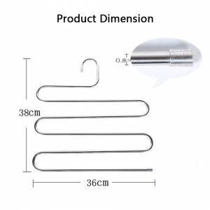 Youngshion (4-Pack) Youngshion S-Type 5-layer Stainless Steel Hangers Space Saving Closet S