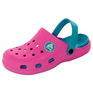 Unbranded (Pink/Turquoise UK 7 / EU 40) Women's Pool Garden Clogs Mules Sandals Sliders