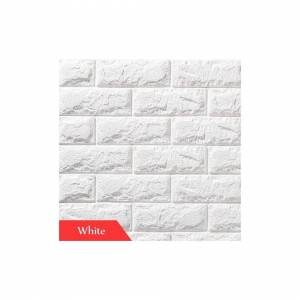 Slowmoose (white, 70cmx77cm) Wallpapers Brick Pattern For Tv Background, Living Room, Bedr