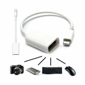 Unbranded 8 Pin OTG Adapter Cable Lightning Male to USB Female Lead For Apple iPhone iPad