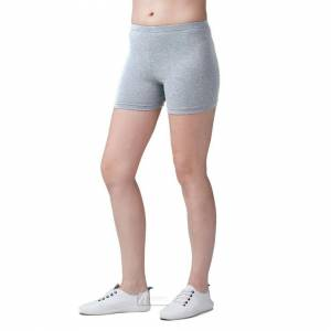 JS One (Grey, 120cm / Age 6-7 Years) Girls Plain Breathable Modal Stretchy Casual Sport