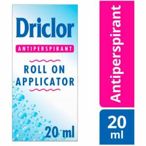 You Me Driclor Antiperspirant Roll On Applicator, Combats Excessive Perspiration 20 ml