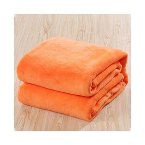 Unbranded (Orange, 100*140cm) Warm Soft Large Polar Fleece Throw Blanket Sofa Bed Room Tra