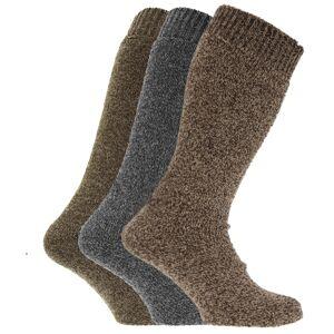 Universal Textiles (UK Shoe 6-11, EUR 39-45, Grey/Green/Brown) Mens Thermal Wool Blend Long Welling
