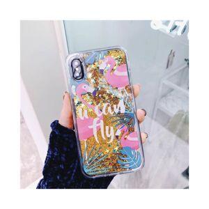 Simply My Love Flamingo Glitter Liquid Hard Phone Case Cover Iphone 6 6s 7 8 Plus X Xr Xs Max I