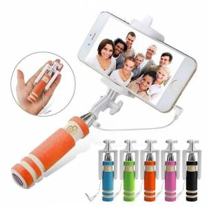 Custom Whip Styling Samsung Galaxy S20 5G Orange Mini Monopod Selfie Stick Built In Remote Shutter