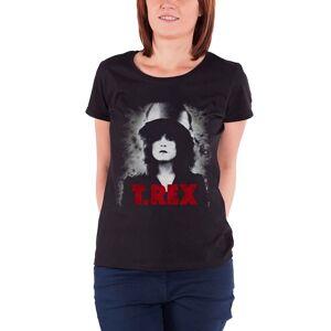T-Rex (8, Black) T Rex  T Shirt The Slider Marc Bolan T.rex Official Womens Skinny Fit